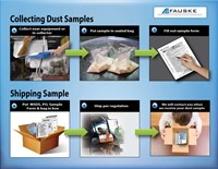 This graphic shows how to collect and ship a dust sample for testing. (Fauske graphic)