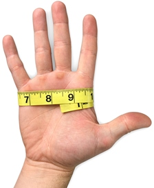 To determine the proper glove size, use a soft cloth tape measure to measure your dominant hand. (Radians photo)