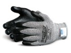 This SuperiorTouch 13-gauge Knit cut-resistant glove from Superior Glove Works Ltd. is made with Dyneema and has a foam-nitrile palm.