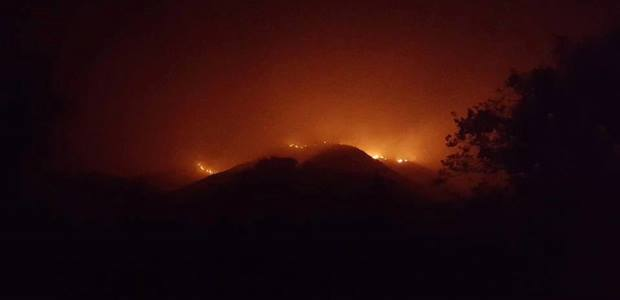 This Cal Fire photo shows some of the Soberanes Fire near Big Sur, which had grown to about 77,000 acres and was only 60 percent contained as of Wednesday afternoon.