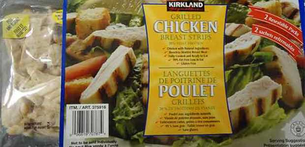 Kirkland signature grilled chicken breast strips recalled for Freshouse foods