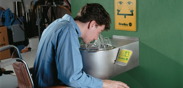 Optimize your equipment to meet ANSI requirements and provide workers the best washdown coverage. (Bradley Corporation image)