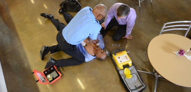By continually raising awareness of the AED program, organizations reinforce a commitment to safety among employees. (American Heart Association photo)