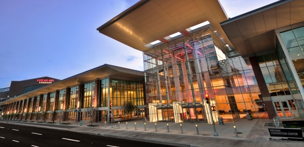 The Indiana Convention Center is across the street from Lucas Oil Stadium. (Photo Courtesy of Lavengood Photography)