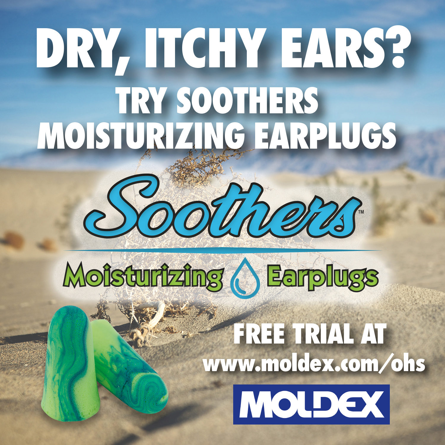 Soothers Moisturizing Earplugs