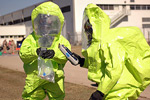Military hazmat training exercise