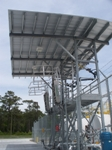 This system provides fall protection for operators during refueling of vehicles at Camp Lejeune.