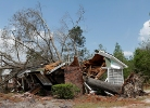 A house in Snow Hill, N.C. lay in ruins after a tornado April 16. (Photo: David Fine/FEMA)