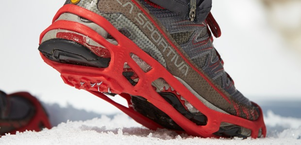 The key to transitional traction is having both good metal cleat traction and a well-designed rubber or rubber-like compound outsole tread. (STABILgear.com photo)
