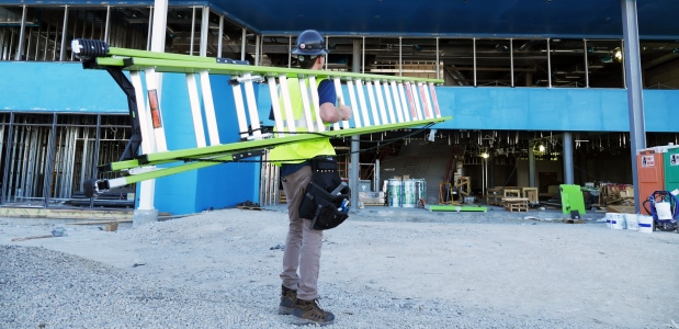New fiberglass materials are available and can reduce the weight of your ladder by 20 percent. Most ladder companies now offer a lighter-weight version of some ladders. (Little Giant Ladder Systems photo)