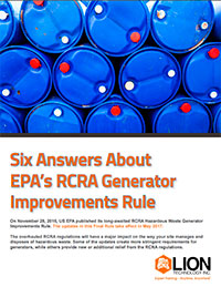 Six Answers About EPA's RCRA Generator Improvements Rule