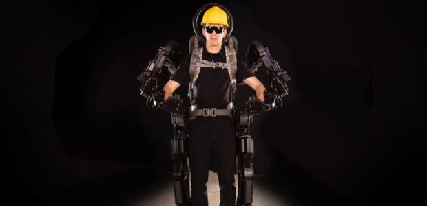 This is a powered, full-body exoskeleton concept image from Sarcos Robotics.