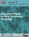 NIOSH mine stoppings explosion test report