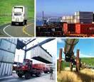 A collage of the various ways to transport freight.