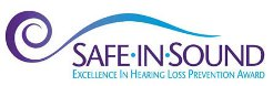 logo of the Safe-in-Sound Excellence in Hearing Loss Prevention Awards™