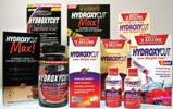 A collage of Hydroxycut products.