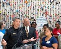 This Allstate photo shows Montgomery County (Md.) Police Capt. Tom Didone in front of nearly 5,000 key chains representing the number of teens who die each year in car crashes.