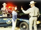 an officer administers a nighttime sobriety test