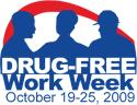 the logo of 2009 Drug-Free Work Week