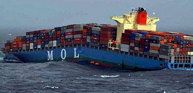 The MOL Comfort, representing a loss of all 4,293 containers on board in 2013, accounted for 77 percent of that year