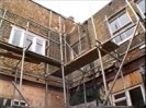 HSE said this photo from the BBC documentary footage shows the scaffold from which the mason fell in March 2005.