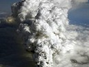 This photo from the Iceland News site shows the ash cloud rising from the Eyjafjallajokull volcano.