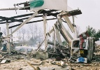 This CSB photo shows the aftermath of the Little General Store propane explosion in Ghent, W.Va.