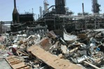 This U.S. Chemical Safety Board photo shows the destruction left by the explosion at the Texas City, Texas, BP refinery.