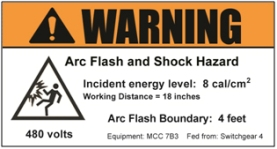 Arc flash label best practices occupational health safety for How to read arc flash labels