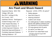 Figure 3. In this design, the purpose of the flash hazard label is lost.