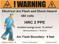 Figure 5, a label including a graphic representation of the required PPE