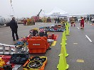 This Transportation Emergency Rescue Committee of Canada photo shows part of the setup for the 26th Annual North American Vehicle Extrication Challenge.