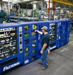 The FAST 5000s are an offering of FAST (Fastenal Automated Supply Technology) Solutions™. They are stocked for the customers with a selection of PPE and other frequently used work items.