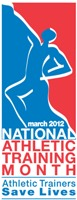 National Athletic Training Month is March 2012.