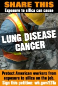 According to LIUNA, about 1.7 million workers in the United States each year are exposed to silica dust and at risk of developing silicosis, lung cancer, and other debilitating diseases.