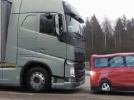 Volvo is one of the companies testing automatic emergency braking technology in its heavy trucks. (Volvo photo)