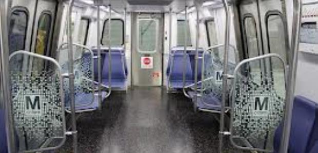 These railcars have a stainless steel body, closed circuit TV cameras, LCD map displays and LED screens to help passengers find their track location, wider aisles, and non-slip flooring. (Metro photo)