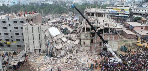 The Rana Plaza building partial collapse occurred in April 2013.
