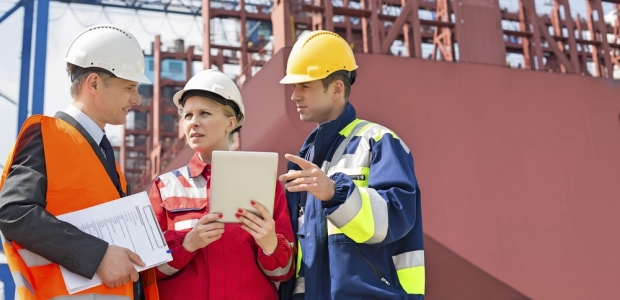 Those with the highest risk of asbestos exposure while on the job include construction workers and shipyard workers.