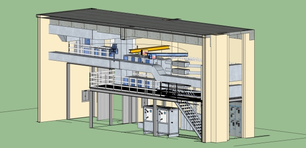 "This is an architectural drawing of the new NIST ""intelligent agents"" lab for developing and testing more efficient building control systems. (Kikkeri/NIST image)"