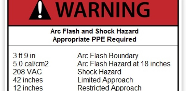 This new equipment warning label works for the latest edition of NFPA 70E.