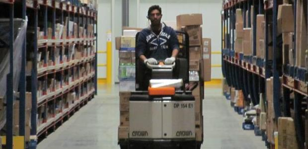 The NIOSH booklet illustrates several pieces of equipment to help workers in grocery warehouses and similar facilities avoid lifting and awkward motion injuries.