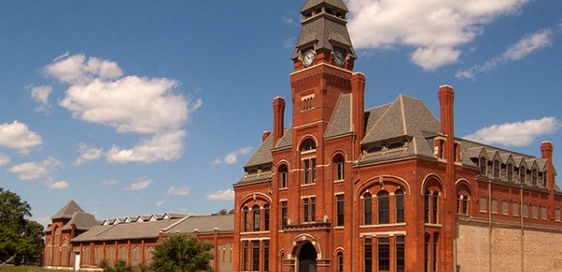 This photo shows the main building on the Pullman National Monument site. (Pullman Foundation photo by Robert Shymanski)