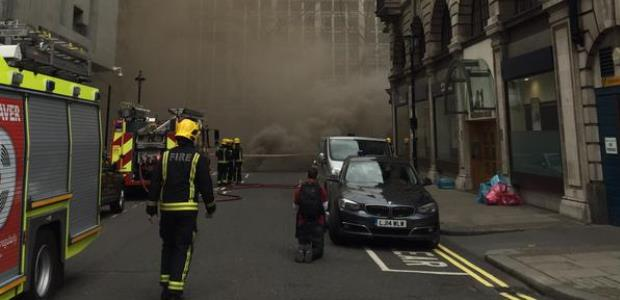 This London Fire Brigade photo was taken during firefighters