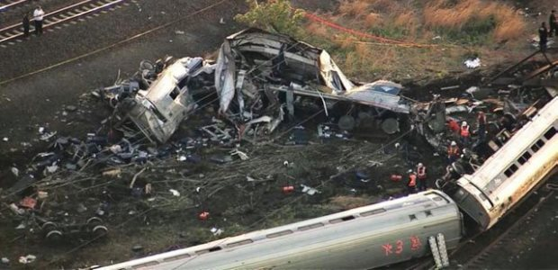 Amtrak announced May 26 it will install inward-looking cameras on the locomotives used on its Northeast Corridor trains, following the May 12 derailment near Philadelphia, its aftermath shown here.