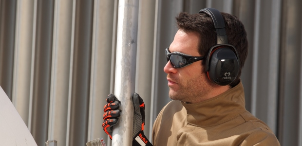 Employees who wear radio ear muffs are more productive and motivated on the job. (Protective Industrial Products Inc. photo)