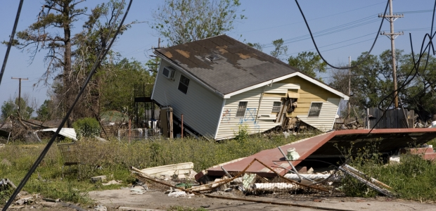 Hurricane Katrina aftermath in New Orleans.