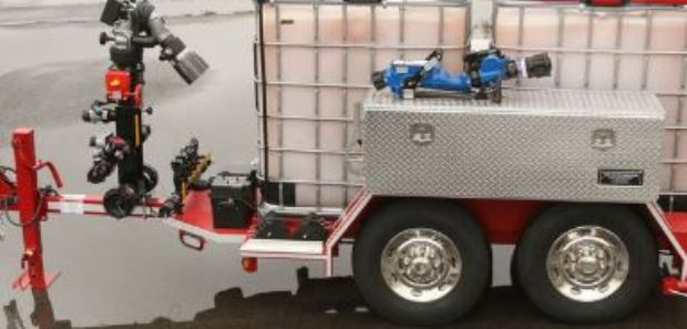 The trucks can provide Class B foam that blankets and smothers a flammable liquid fire.