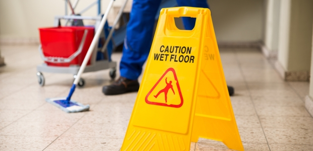 Slippery floors due to the frequent washing process are also a constant concern in health care settings.