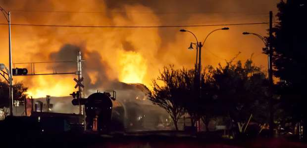 """""""A year after the Mount Carbon crude oil train fire, residents there know that they narrowly escaped their town becoming the American Lac-Mégantic – an outcome of a fiery derailment that could still happen at any moment,"""" NTSB Board Member Robert Sumwalt wrote Feb. 18, 2016."""
